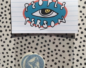 Mini Dripping Eye Sticker Pack / Blue Vinyl Stickers, Pack of 3 / Cool Vinyl Sticker Pack