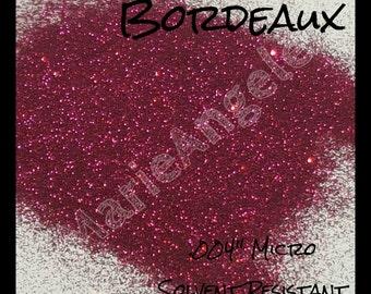 """Bordeaux ~ .004"""" Solvent Resistant Micro Glitter"""