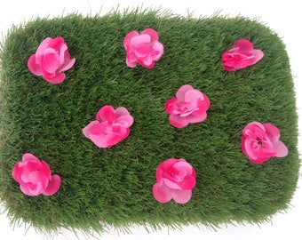 Fairy Garden Artificial Grass With Flowers
