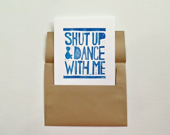 Cute cards, Anniversary card for husband, Shut up and dance with me card Romantic card, Card for husband, I love you card Love greeting card