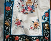 silk CHINESE Kimono JACKET  embroidered... free shipping Canada and the US