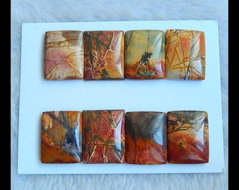 Sell 8 PCS Multi-Color Picasso Jasper Gemstone Cabochon,24x19x5mm,41.4g(a0403)