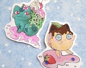 Poke Sweets ice cream and cream puff Sticker Set
