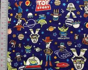 Toy story  fabric blue colour fabric one yard