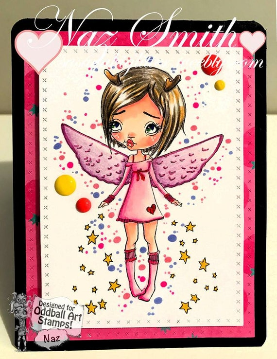 INSTANT DOWNLOAD Kawaii Christmas Angel or Fairy - X-mas Angel  No.355 by Lizzy Love