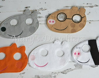 Peppa Pig Friends Inspired Masks
