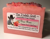 Dear Rose Goats Milk Soap - NO Coconut Oil - Beautiful Classic Rose Fragrance - Great for Sensitive Skin - Sensitive Skin, Gentle