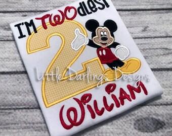 Custom Boys Mouse Inspired Birthday Shirt