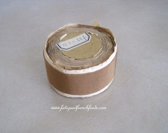 Vintage French Gold Grosgrain Ribbon Unused 4cms Wide Rayon & Cotton