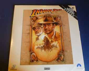 Indiana Jones and the Last Crusade Laser VideoDisc Extended Play 1989