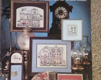 Leisure Arts, All Through the House,  Counted  Cross Stitch, Leaflet 189, 14 Page Book, Victorian, Doll House, OFG