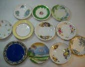 Lot Of 11 Teacup Saucers Decorative Plates Craft Supply Mosaic Glass