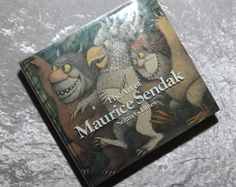Art of Maurice Sendak by Selma G. Lanes, Hefty Vintage 1980 1st Edition Illustrated Coffee Table Book w/ Dust Jacket, FREE SHIPPING