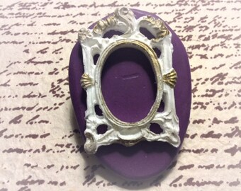 Victorian picture frame flexible silicone mold