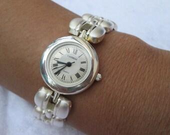 Cork leather wrap watch women Watch wristwatch natural silver - wood grain - gift for her women wife girlfriend - vegan - cork bracelet
