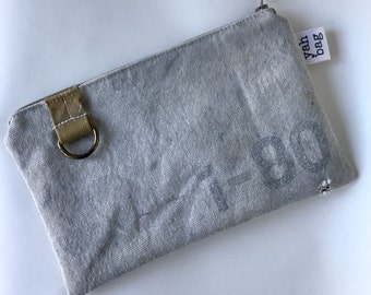 1-80 - reconstructed vintage US mail bag small pouch