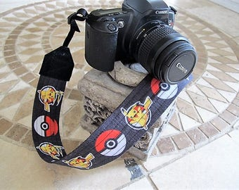 Pokemon Pikachu Pokeball Camera Strap