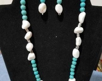 Turquoise necklace set.