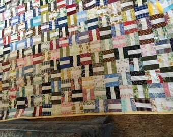 Fence Rail knotted quilt