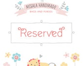 Reserved custom listing for Cortney