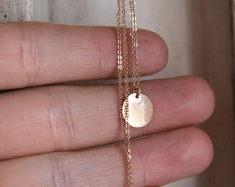 one of a kind 14k Rose gold necklace-signet necklace