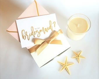 3 Be My Bridesmaid Candles | Scented Soy Candle | Bath Candle | Bridesmaid Gift | Bridesmaid Proposal | Gift For Her | Candle Gift