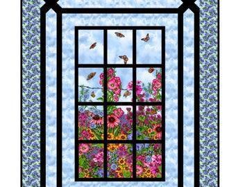 Quilt Pattern - Prairie Gate Window Pattern - PDF INSTANT DOWNLOAD
