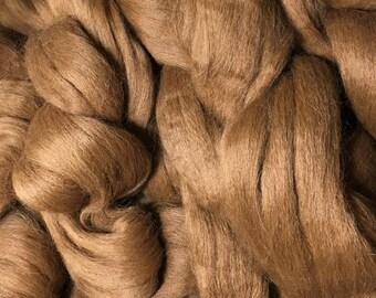 Alpaca Fiber Roving Top Reddish Brown Superfine, 100 Grams, Spinning, Hearts Desire Fiber