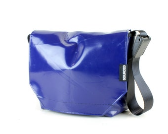 Messenger Bag made from Upcycled Truck Tarp, Water resistant Laptop Bag, Courier Bag, Satchel, Shoulder Bag (P06)