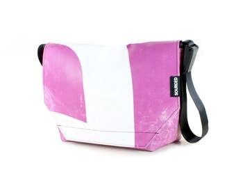 Large Messenger Bag made from Recycled Truck Tarp, Man Bag, Satchel Style Bag, MacBook Bag (60.04)