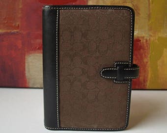 COACH Organizer Brown Business Day Planner Case