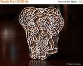 HOLIDAY SALE Textile Stamp, Pottery Stamp, Indian Wood Stamp, Tjaps, Blockprint Stamp, Printing Stamp Blocks- Elephant