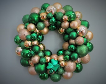 ST. PATRICK'S Day Wreath Ornament Wreath with SHAMROCK