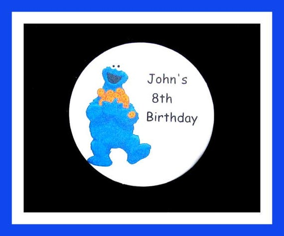 Birthday Party Favor Personalized Button, Cookie EatPin Favor,School Favor,Kid Party Favor,Boy Birthday,Girl BirthdayPin,Favor Tag Set of 10