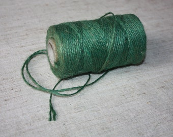 Green Jute Cord Natural = 1 spool = 110 yards = 100 meters