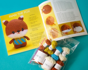 Amigurumi the book + FOX KIT. Includes the materials to crochet Inari the Fox from the book.