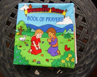 The Beginners Bible Book of Prayers Quiet Soft Fabric Baby Toddler Story Book Handmade Ready to Read