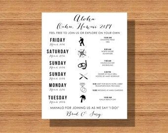 wedding itinerary wedding schedule of events wedding itinerary from the happy couple wedding