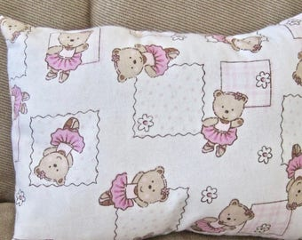 Travel Baby Toddler Small Day Care Nap Surgical Dancing Bear Pillow