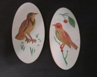 pair sweet bird plaques wall plaques birds