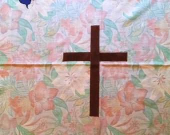 Church Easter Parament Set Altar Superfrontal Lectern Pulpit Hangings Banners Pastel Flowers Handmade Unfinished