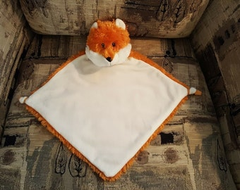 Cubbies Personalized Fox Security Blanket Baptism Gift Christening Gift New Baby Baby Shower Gift Fleece Security Blanket