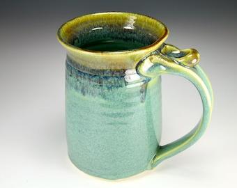 Green coffee cup mug
