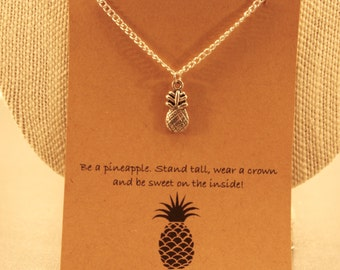 Pineapple Necklace: Be a Pineapple Wish Necklace, Wish Jewelry, Best Friends, Best Friend Necklace, Pineapple Necklace