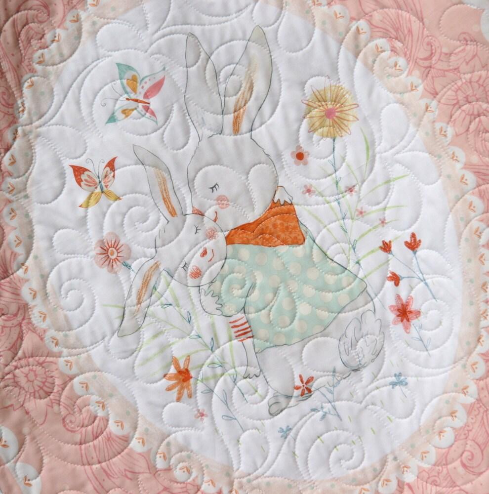 Last Three Bunny Tales Quilt Kit Panel Blanket Baby