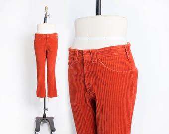 Vintage 1960s LEE Fastback - Wide Wale Corduroy Rusty Mod Pants Slacks - Medium