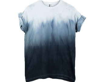 Ombre shirt etsy for How to dye a shirt red