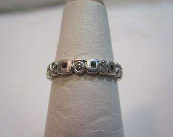 Alex Sepkus Platinum and Diamond Micro Windows Ring