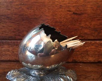 Victorian Silver Plate Toothpick Holder by Meriden