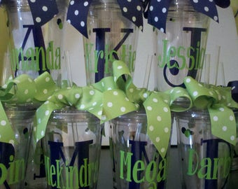 Personalized Decorated Tumblers, Teacher Appreciation, End of Year, Bride, Bridesmaids, Wedding party,  Gifts, Wedding, Friends, Weekends